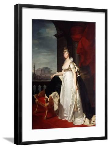 Portrait of Empress Elizabeth Alexeievna, 1805-Jean Laurent Monnier-Framed Art Print
