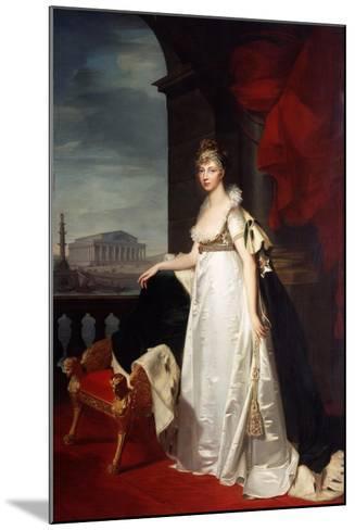 Portrait of Empress Elizabeth Alexeievna, 1805-Jean Laurent Monnier-Mounted Giclee Print