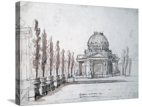 Temple of Apollo, for the Opera Achille and Polyxene, C1687-Jean-Baptiste Lully-Stretched Canvas Print