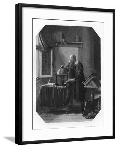 Petrus Plancius, Dutch Astronomer, Cartographer and Clergyman, C1870-JH Rennefeld-Framed Art Print