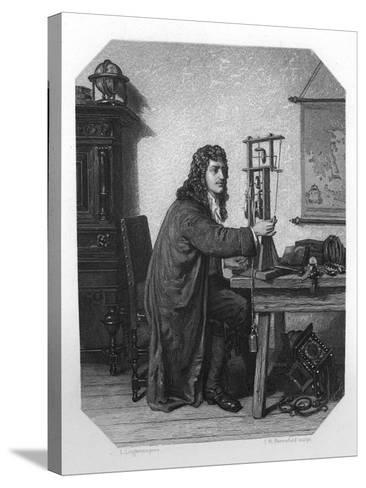 Christiaan Huygens, 17th Century Dutch Mathematician, Astronomer and Physicist, C1870-JH Rennefeld-Stretched Canvas Print
