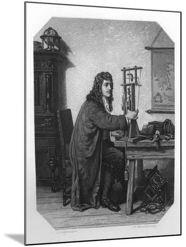 Christiaan Huygens, 17th Century Dutch Mathematician, Astronomer and Physicist, C1870-JH Rennefeld-Mounted Giclee Print