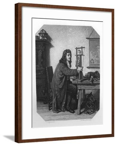 Christiaan Huygens, 17th Century Dutch Mathematician, Astronomer and Physicist, C1870-JH Rennefeld-Framed Art Print
