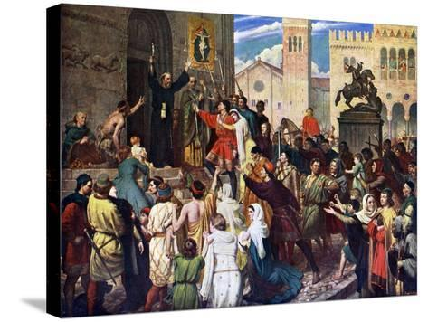Peter the Hermit Preaching the First Crusade, 1926-James Archer-Stretched Canvas Print