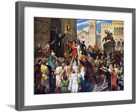 Peter the Hermit Preaching the First Crusade, 1926-James Archer-Framed Art Print