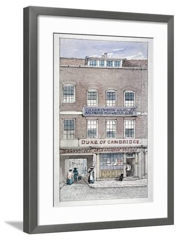 View of the Duke of Cambridge Tavern, Shoe Lane, City of London, C1840-James Findlay-Framed Art Print