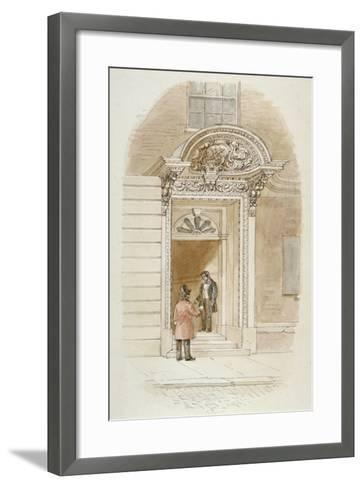 View of the Doorway of No 4 Mincing Lane, City of London, 1840-James Findlay-Framed Art Print