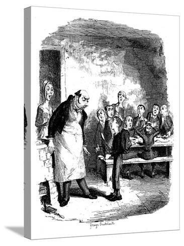 Scene from Oliver Twist by Charles Dickens, 1836-James Mahoney-Stretched Canvas Print