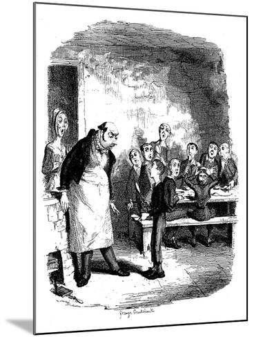 Scene from Oliver Twist by Charles Dickens, 1836-James Mahoney-Mounted Giclee Print