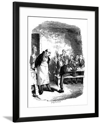Scene from Oliver Twist by Charles Dickens, 1836-James Mahoney-Framed Art Print