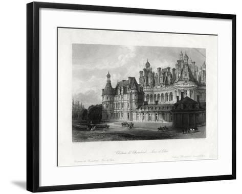 Chateau De Chambord, Loir-Et-Cher, France, 1875-James Tingle-Framed Art Print