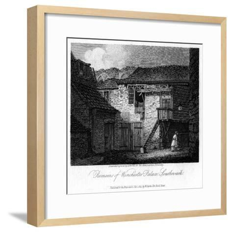 Remains of Winchester Palace, Southwark, London, 19th Century-JC Varrall-Framed Art Print