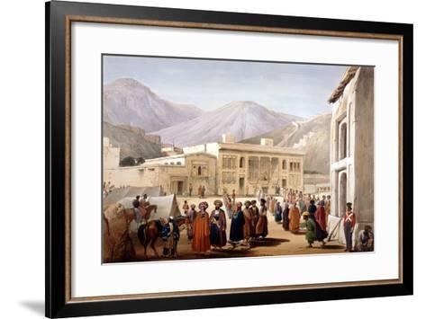 Shah Shoja, Puppet of the British, Holding a Durbar at Kabul, First Anglo-Afghan War, 1838-1842-James Atkinson-Framed Art Print