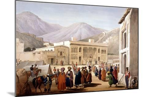 Shah Shoja, Puppet of the British, Holding a Durbar at Kabul, First Anglo-Afghan War, 1838-1842-James Atkinson-Mounted Giclee Print