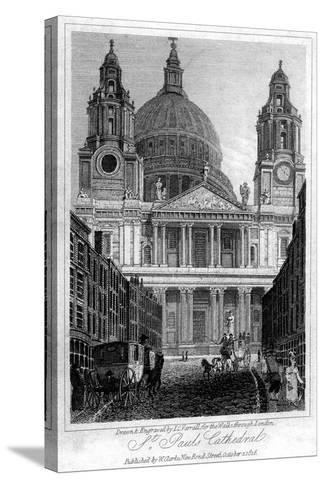 St Paul's Cathedral, London, 1816-JC Varrall-Stretched Canvas Print