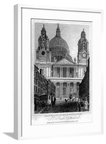 St Paul's Cathedral, London, 1816-JC Varrall-Framed Art Print
