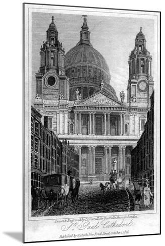 St Paul's Cathedral, London, 1816-JC Varrall-Mounted Giclee Print