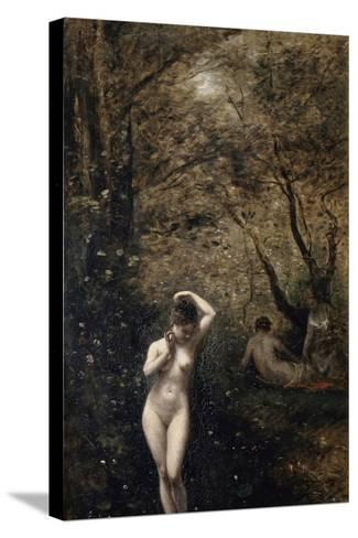 Diana Bathing, 1873-1874-Jean-Baptiste-Camille Corot-Stretched Canvas Print