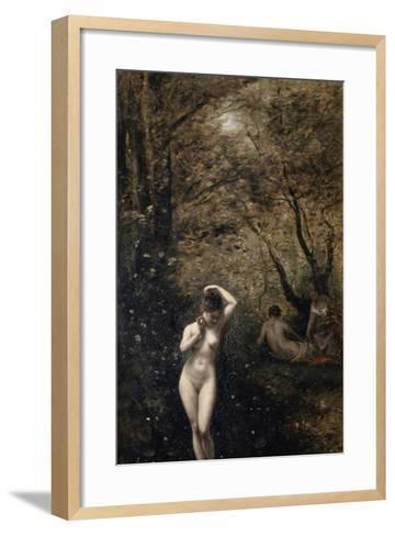 Diana Bathing, 1873-1874-Jean-Baptiste-Camille Corot-Framed Art Print