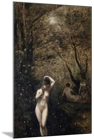 Diana Bathing, 1873-1874-Jean-Baptiste-Camille Corot-Mounted Giclee Print
