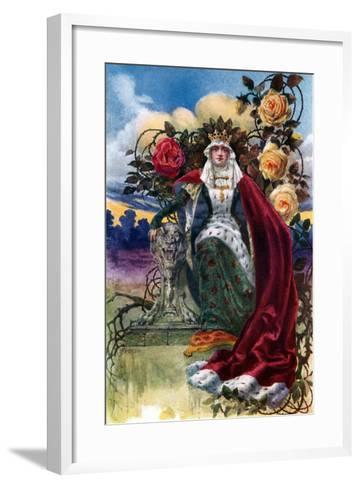 A Queen of Roses, 1908-1909-JH Valda-Framed Art Print