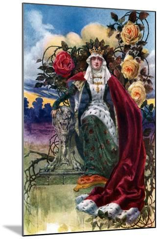 A Queen of Roses, 1908-1909-JH Valda-Mounted Giclee Print