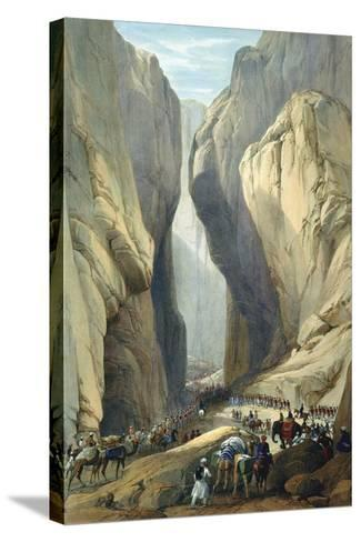 British Army Entering the Bolan Pass from Dadur, First Anglo-Afghan War, 1838-1842-James Atkinson-Stretched Canvas Print
