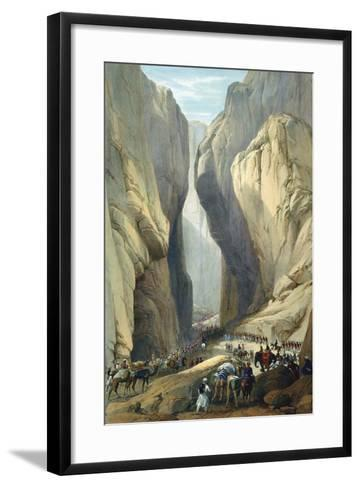 British Army Entering the Bolan Pass from Dadur, First Anglo-Afghan War, 1838-1842-James Atkinson-Framed Art Print