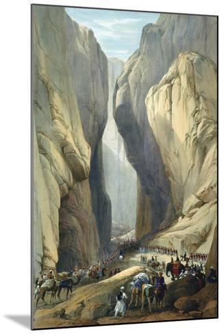 British Army Entering the Bolan Pass from Dadur, First Anglo-Afghan War, 1838-1842-James Atkinson-Mounted Giclee Print