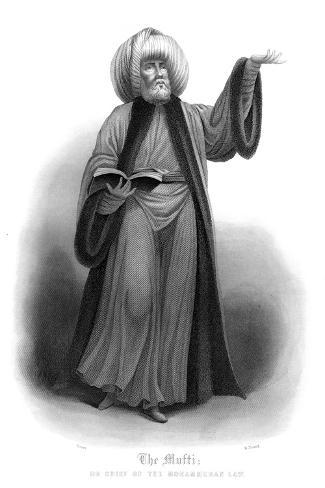 The Mufti, Chief of Mohammedan Law-James Gardner-Stretched Canvas Print