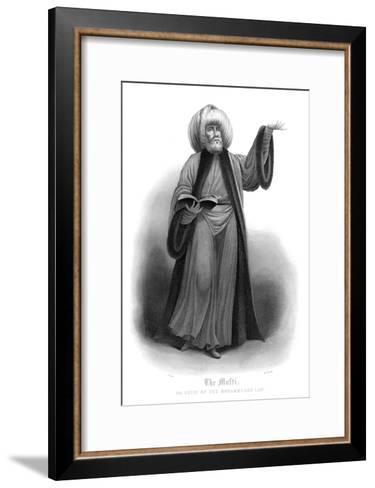 The Mufti, Chief of Mohammedan Law-James Gardner-Framed Art Print