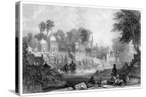 Shrine of Raiman Shah Doola, Elichpur-James Gardner-Stretched Canvas Print