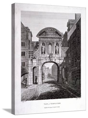 Temple Bar, London, 1799-James Neagle-Stretched Canvas Print