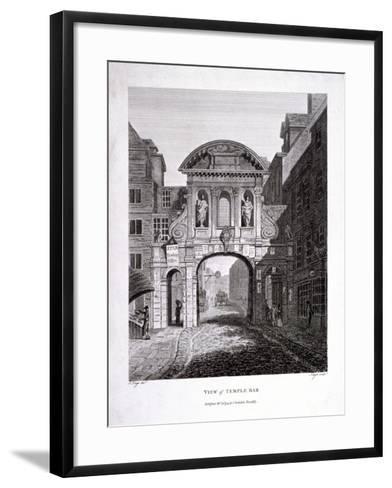 Temple Bar, London, 1799-James Neagle-Framed Art Print