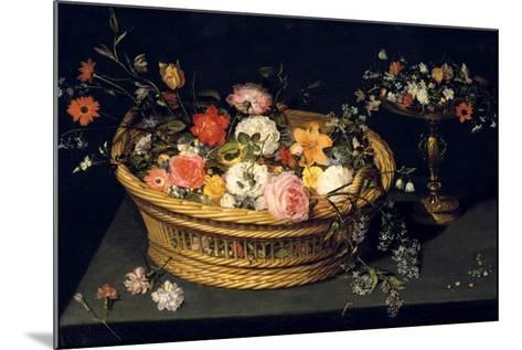 Flower Basket and Goblet in Gilded Silver, Still Life, 17th Century-Jan Bruegel the Younger-Mounted Giclee Print