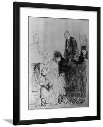 The Exit of the Audience, 1925-Jean Louis Forain-Framed Art Print