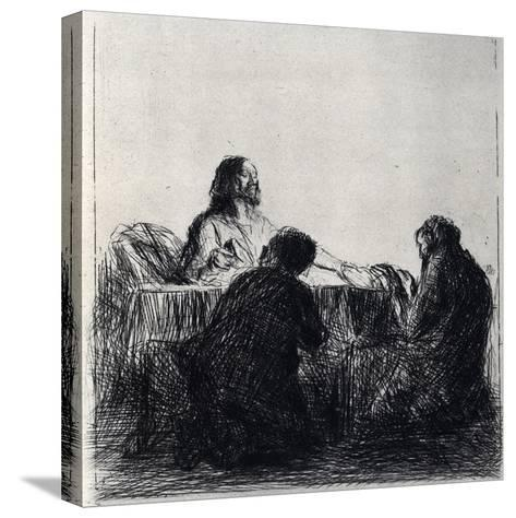 Breaking of the Bread, 1925-Jean Louis Forain-Stretched Canvas Print