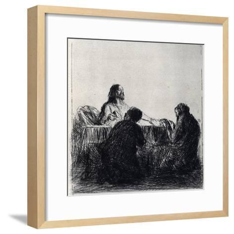 Breaking of the Bread, 1925-Jean Louis Forain-Framed Art Print