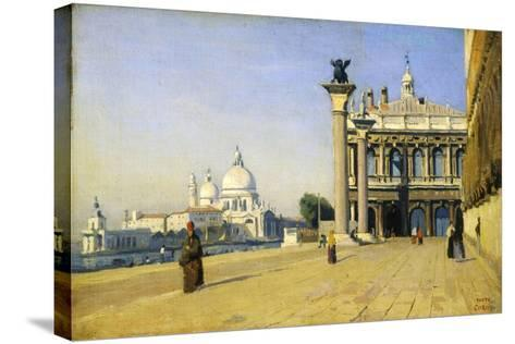 Morning in Venice, 1834-Jean-Baptiste-Camille Corot-Stretched Canvas Print