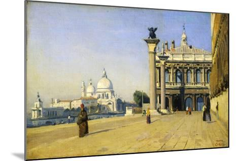 Morning in Venice, 1834-Jean-Baptiste-Camille Corot-Mounted Giclee Print