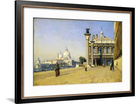 Morning in Venice, 1834-Jean-Baptiste-Camille Corot-Framed Art Print
