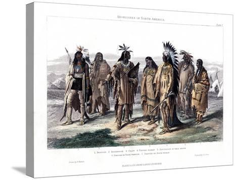 Aborigines of North America, 1873-JJ Crew-Stretched Canvas Print