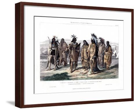Aborigines of North America, 1873-JJ Crew-Framed Art Print