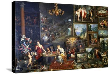 Allegory of Sight and Smell, C1590-1625-Jan Brueghel the Elder-Stretched Canvas Print