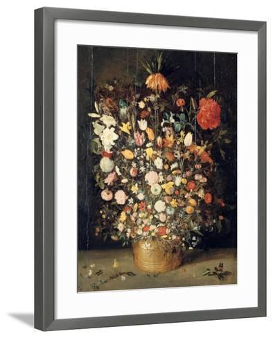 Bouquet of Flowers in a Wooden Vase, 1603-Jan Brueghel the Elder-Framed Art Print