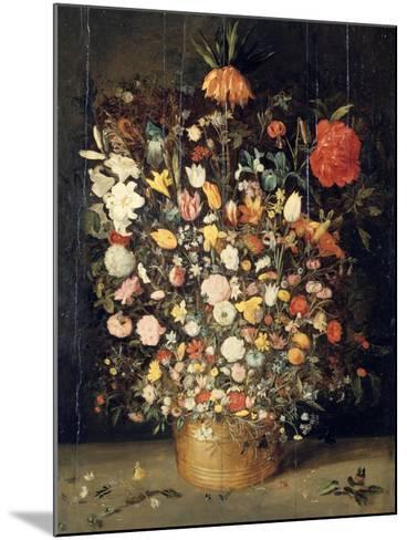 Bouquet of Flowers in a Wooden Vase, 1603-Jan Brueghel the Elder-Mounted Giclee Print