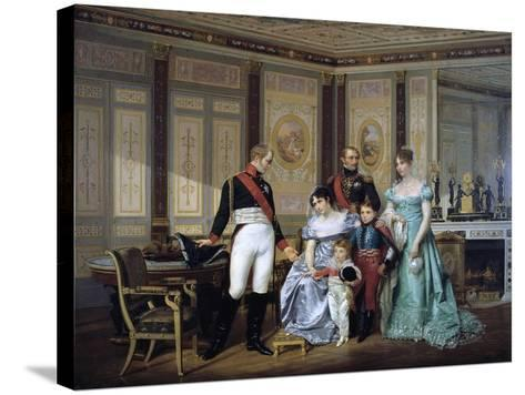 The Empress Josephine Presenting Her Children to the Emperor Alexander at Malmaison, C1839-1879-Jean Louis Victor Viger-Stretched Canvas Print