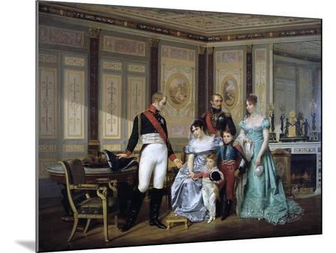 The Empress Josephine Presenting Her Children to the Emperor Alexander at Malmaison, C1839-1879-Jean Louis Victor Viger-Mounted Giclee Print