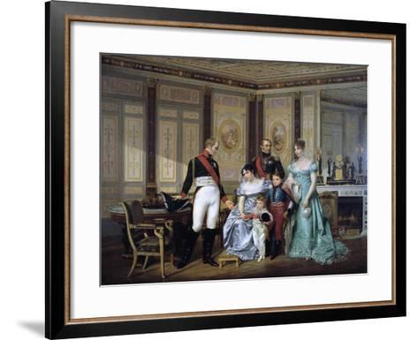 The Empress Josephine Presenting Her Children to the Emperor Alexander at Malmaison, C1839-1879-Jean Louis Victor Viger-Framed Art Print