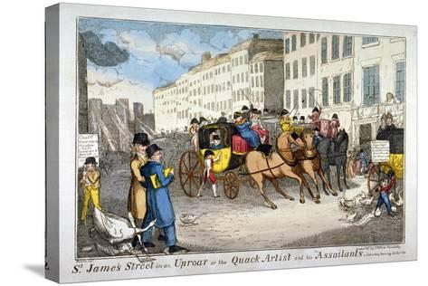 St James Street in an Uproar, or the Quack Artist and His Assailants, 1819-JL Marks-Stretched Canvas Print